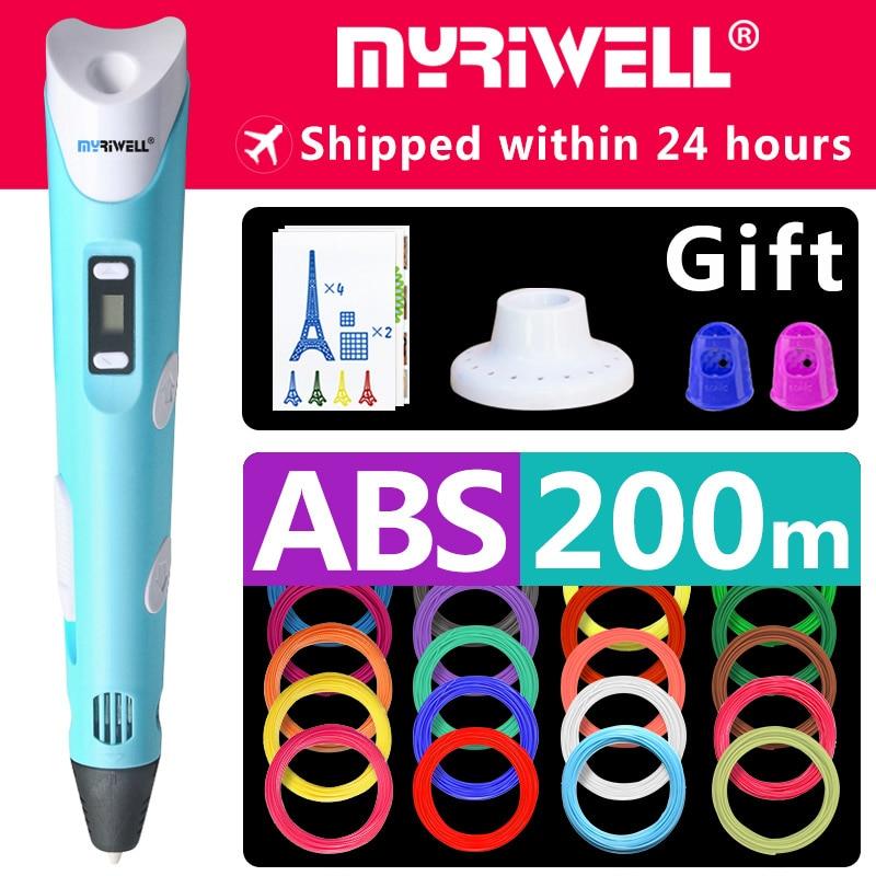 myriwell 3d pen 3d pens,1.75mm ABS/PLA Filament, 3d model,new Year's gift 3d magic pen,Kids Christmas present birthday present