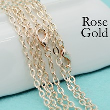 50 pcs - 18/24/30 Inch Rose Gold Chain Necklace, Cable Chain, Necklace Rolo