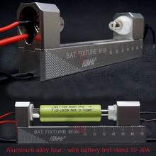 CNC סגסוגת אלומיניום כפול נעילה עצמית בוטיק ארבעת חוטים מתקן בעל BF 10 20A עבור 18650 AA AAA סוללה