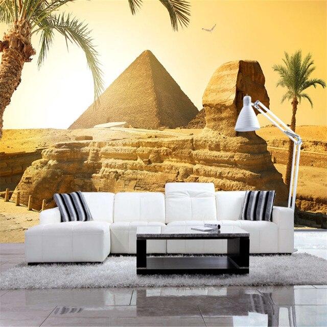 Kustom Foto Wallpaper Mesir Desert Landscape Yang Modern Ruang Tamu R Tidur Tv Dinding Latar