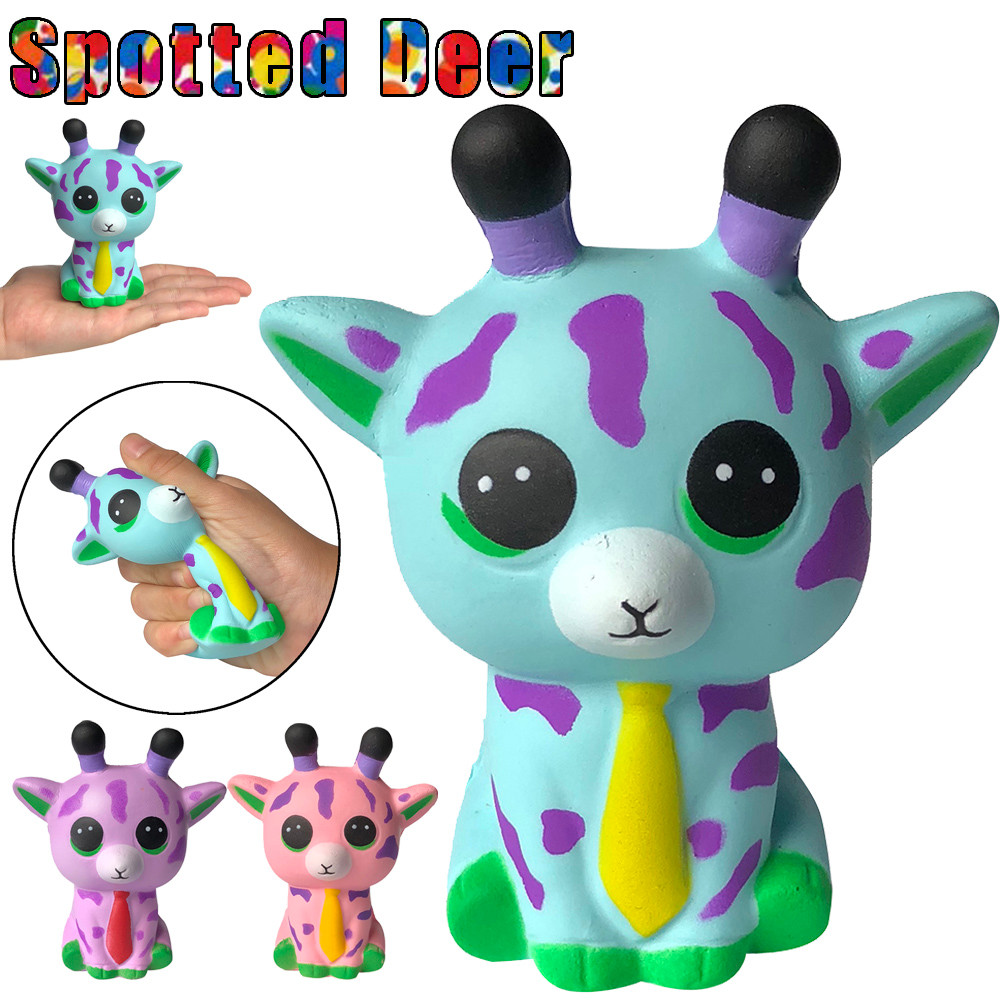 Children's Toys Squishies Adorable Elephant Spotted Deer Ox Horn Slow Rising Cream Squeeze Scented Stress Relief Toys W603