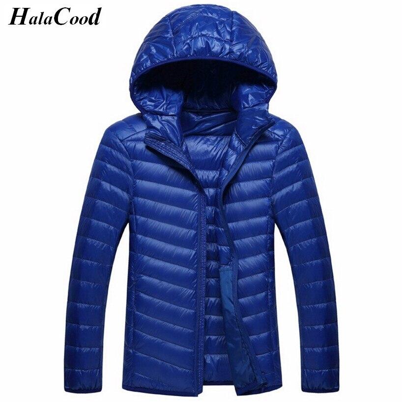 Лидер продаж зима Для мужчин Пуховое пальто Легкая куртка бренд высокое качество Карамельный цвет тепло Для мужчин S Куртки и Пальто для будущих мам Тонкий парка Для мужчин верхняя одежда