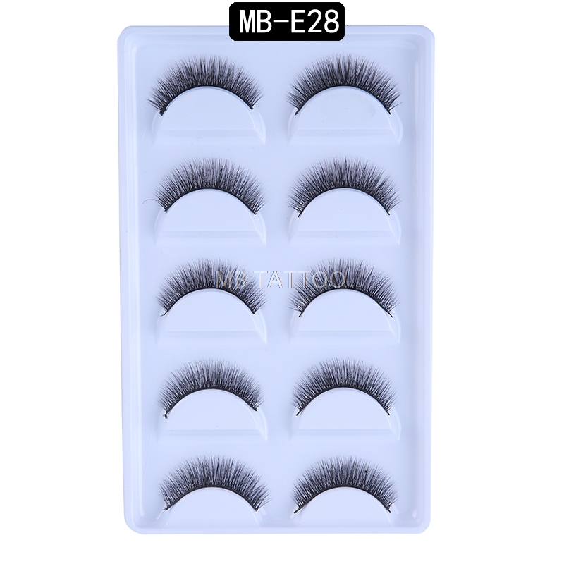 HTB1wncPQ4TpK1RjSZFKq6y2wXXa5 New 3D 5 Pairs Mink Eyelashes extension make up natural Long false eyelashes fake eye Lashes mink Makeup wholesale Lashes