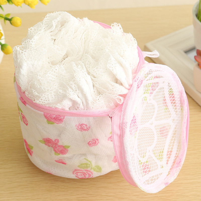BD/_Mesh Laundry Bag Travel Clothes Storage Net Zip Bag Wash Bra Stocking Underw