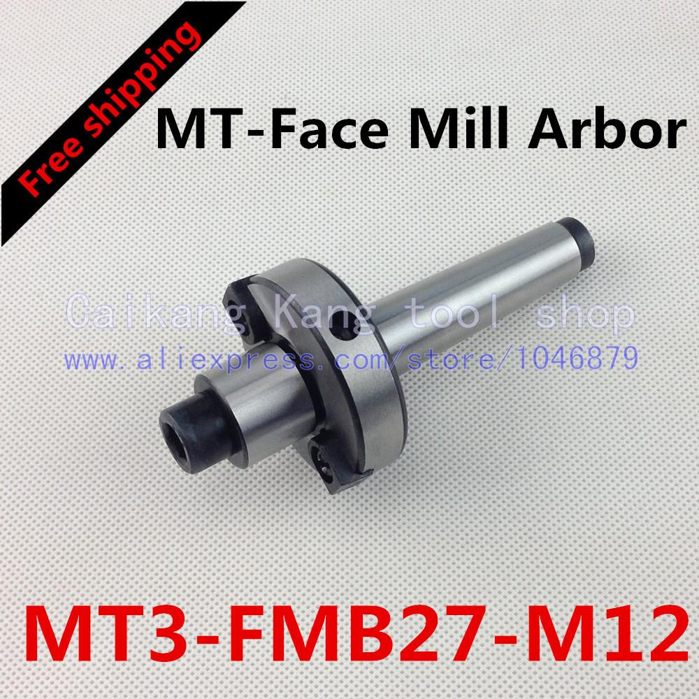 Free shipping New CNC tool holders MT3-FMB27-M12 Morse Face Mill Arbor Shell end mill arbor new face mill arbor cat40 fmb27 60l cnc milling arbor