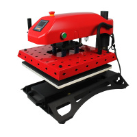 pneumatic heat press machine t shirt for sale (double hot plate, LCD table)