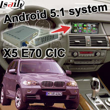 Android 6 0 GPS navigation box video interface for BMW E70 X5 CIC system mirror link