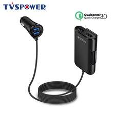 4-портовый USB автомобильное зарядное устройство КК 3.0 концентратор сиденье для зарядки зарядное устройство для iPhone 6 7 8 чехол телефона 5 мобильный телефон