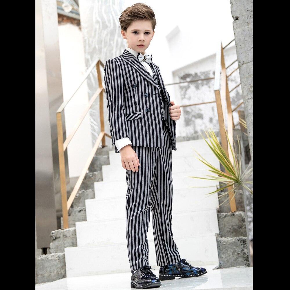 8cfef5b81 Los juegos del bebé 2018 nuevo otoño solo Breasted Blazers niños pantalones niños  traje Formal desgaste