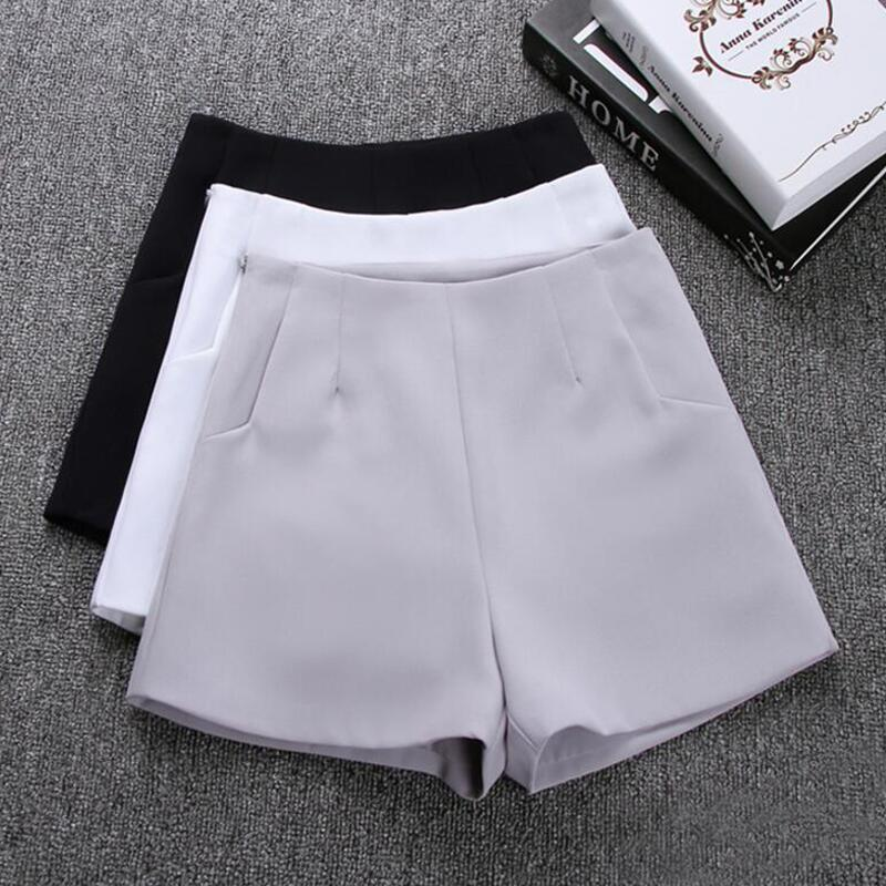 2019 New Summer hot Fashion New Women Shorts Skirts High Waist Casual Suit Shorts Black White Women Short Pants Ladies Shorts