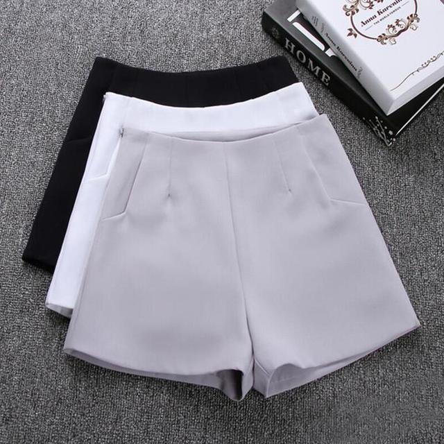 2019 nowe gorące lato moda nowy kobiety spodenki spódnice wysoka talia garnitur casual szorty czarny biały kobiety krótkie spodnie szorty damskie
