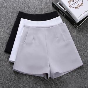 Image 1 - 2020 New Summer hot Fashion New Women Shorts Skirts High Waist Casual Suit Shorts Black White Women Short Pants Ladies Shorts