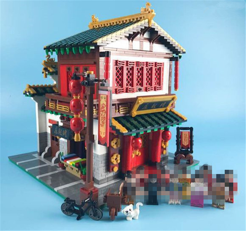 NEW Block 2787Pcs Creative Chinese Style The Chinese Silk and Satin Store Set XingBao Building Blocks Bricks Toys Model john bradley store wars the worldwide battle for mindspace and shelfspace online and in store