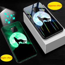 Dragon Wolf Luxury Luminous Glass phone Cases For h