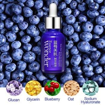 BIOAQUA Blueberry Wonder Essence For Face Skin Care Effect Plant Extract Anti Wrinkle Facial Serum Sodium Hyaluronate Serum