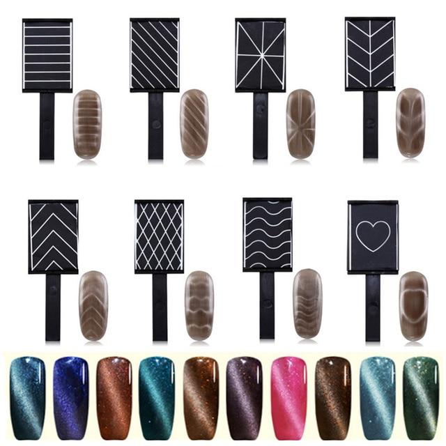 9 muster option katzenauge lack magie bord katzenauge magnet polnischen magnet fr nagel gel nagel werkzeuge - Muster Fur Gelnagel