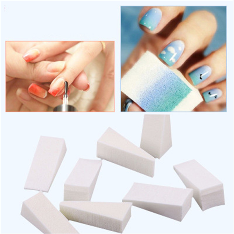 10cps Soft Nail Sponges for Acrylic Makeup Manicure Nail Art Accessory Puff Gradient Tips Woman Salon DIY Nail Buffer Files Tool