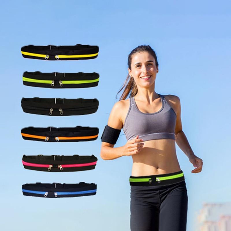 New High Quality Movement Waist Bag Waterproof Phone Belt Personal Purse Nylon Waist Pack Man And Women Casual Sport Waist Bag