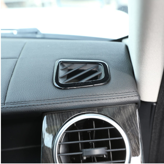 Piano Black Inner Dashboard Side Air Vent Outlet Cover For