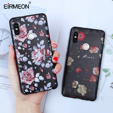 EIRMEON For Xiaomi Redmi Note 5 Pro Case 4X Y1 Lite S2 6 5A 3D Relief Retro Floral Rode Pattern Soft TPU Silicon Back Cover