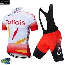 Pro команда Cofidis Vélo комплект летние спортивные комплект из Джерси для езды на велосипеде Для мужчин быстросохнущая дышащая одежда MTB для велосипедистов Велоспорт Наборы 12D Pad Гель