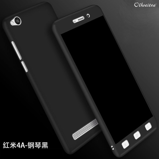 sneakers for cheap c6962 435e4 US $2.43 32% OFF|360 Full Coverage For Xiaomi Redmi 4A 5A Case Cover  Protective Fundas Accessories + Tempered Glass Film Case For Redmi 4 A 5  A-in ...