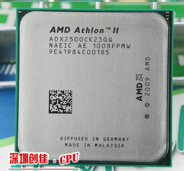 Kostenloser Versand AMD Athlon II X2 250 3,0 GHz AM3 938-poligen Prozessor 65 Watt Dual-Core 2 Mt Cache 45nm Desktop CPU scrattered stücke