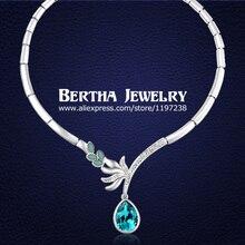 2014 corea moda de lujo cristalino del babero del ahogador collares con Swarovski Elements mejor regalo para la novia Collar