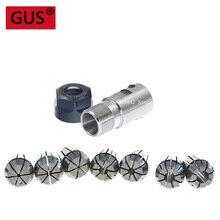 7pcs High Carbon Steel ER11 Spring Collet 4/5/6/7/8,1/4,1/8mm with 5mm ER11A Extension Rod Motor Shaft Holder