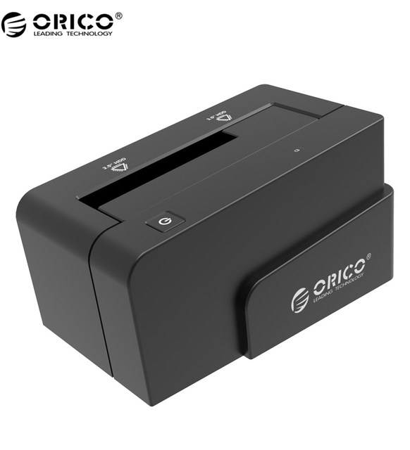 "ORICO 6618SUS3 USB 3.0 & eSATA Docking Station para 2.5 'ou 3.5 ""HDD SSD Gabinete com 12 V 2.5A Power Adapter-Black"
