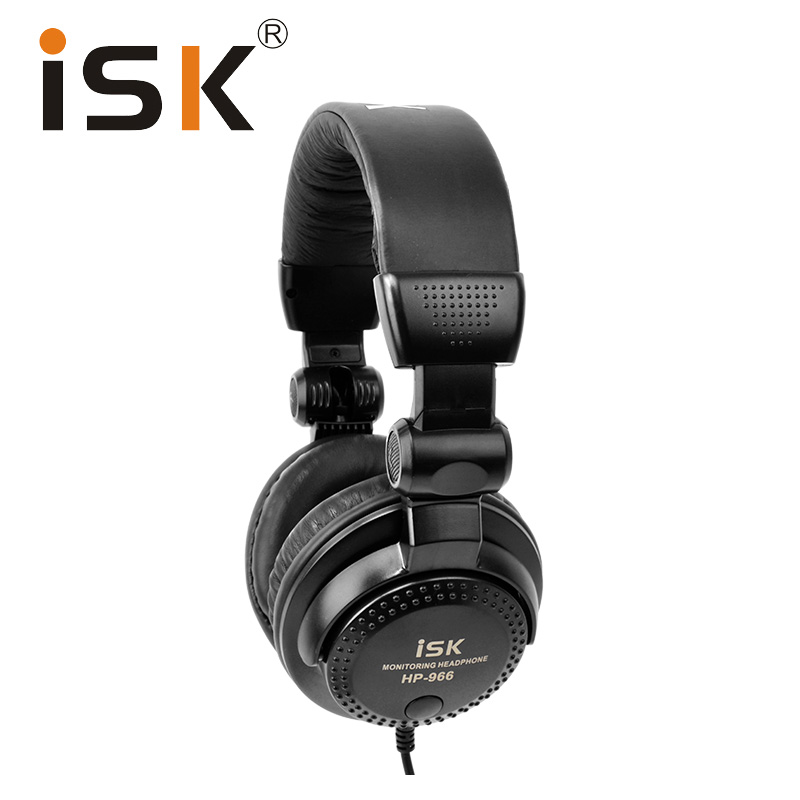 2018 New ISK HP966 Monitor Headphones Headset HIFI Stereo Bass Noise Cancelling Fully Enclosed Dynamic Earphone Professional panasonic rp hxs400e w earphone wired noise cancelling hifi sound headphones stereo headset