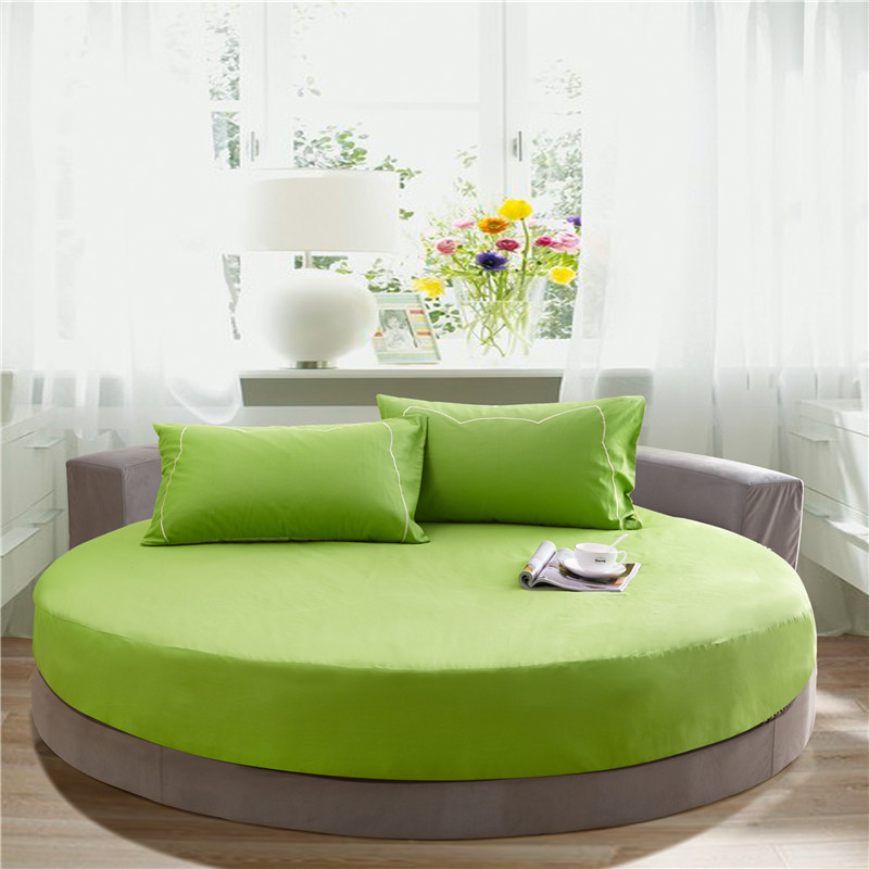 Aliexpress Com Buy Clearance Green Round Fitted Sheet Reactive  - Round Beds