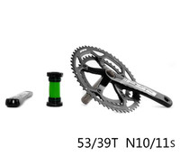 Nova chegada ultraleve 10s 11s 53-39t 130bcd bicicleta pedaleira dobrável da bicicleta peças bmx