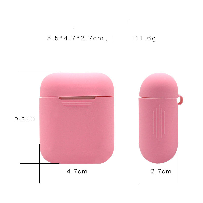 Silicone Protective Carrying Case Cover Skin Sleeve Pouch Box Glow in the Dark for Apple Airpods Wireless Accessories Saco de Bo