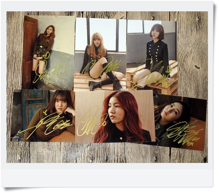 signed GFRIEND autographed  original photo 6 inches 6 photos set freeshipping 062017 D version