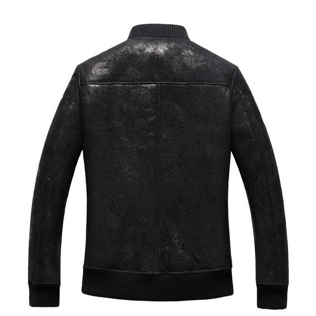 Sheepskin jacket Men's leather jackets Air force Burst locomotive Fur Male 2015  Men's fur coat
