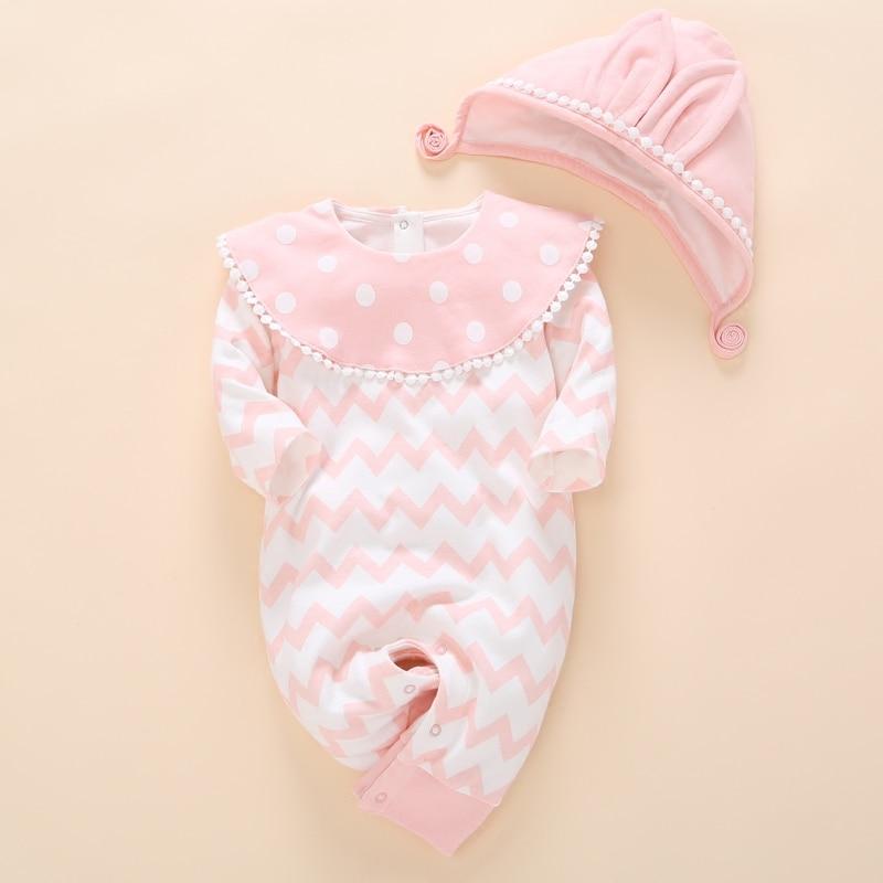 Newborn baby Clothes   Romper   Unisex Set 0 3 months Baby Girl Summer autumn Fashion Cotton baby Clothing 1 year baby birthday gift