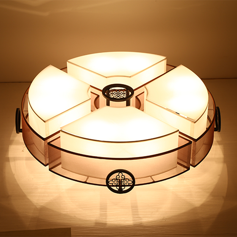 simple ceiling light Chinese lamp Chinese style Iron living room round atmosphere led be ...