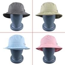 Fishing Hat Summer Women Beach Sun Hat Brim Back Neck Protect Storage Cap Free Shipping