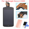 E960 LCD Touch Screen with Digitizer Assembly + Tools For LG Optimus Google Nexus 4 E960 Replacement Free shipping !!!