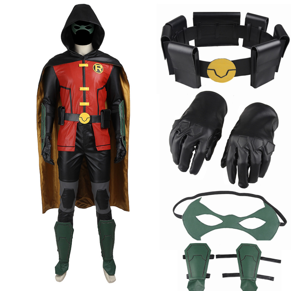 Justice League Vs Teen Titans Robin Costumes For Adult -9155