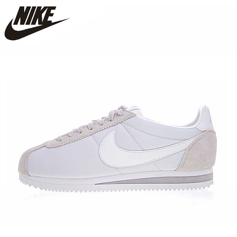 f08f37b734 Nike CLASSIC CORTEZ NYLON Women's Running Shoes Breathable Lightweight  ,Outdoor Sneakers Shoes, Light Gray, 749864 010