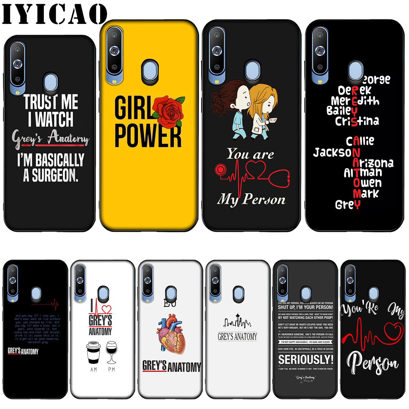 IYICAO <font><b>greys</b></font> <font><b>anatomy</b></font> Hot selling Silicone Soft <font><b>Case</b></font> for Samsung Galaxy A10 A30 A40 A50 A70 M10 M20 M30 Cover image