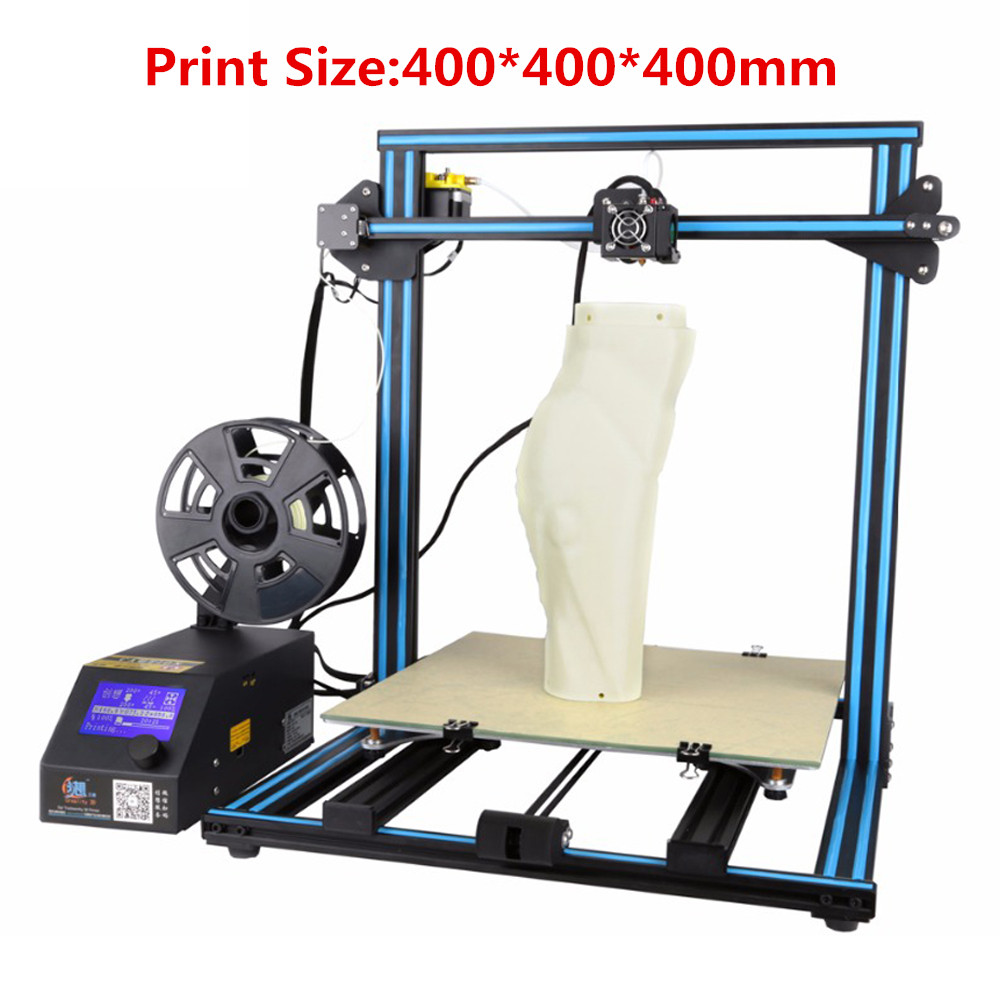 все цены на CREALITY 3D CR-10 Large Print Size 3 D Printer DIY Desktop 3D Printer Kit With Free Filament Person Pulley Version Linear Guide онлайн