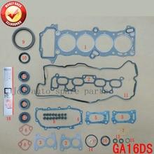GA16DS 16 В Двигателя полный комплект прокладок комплект для Nissan Primera/Солнечный/100NX/Avnir грузов 1597cc 1.6L 1990-1997 A0101-74Y85
