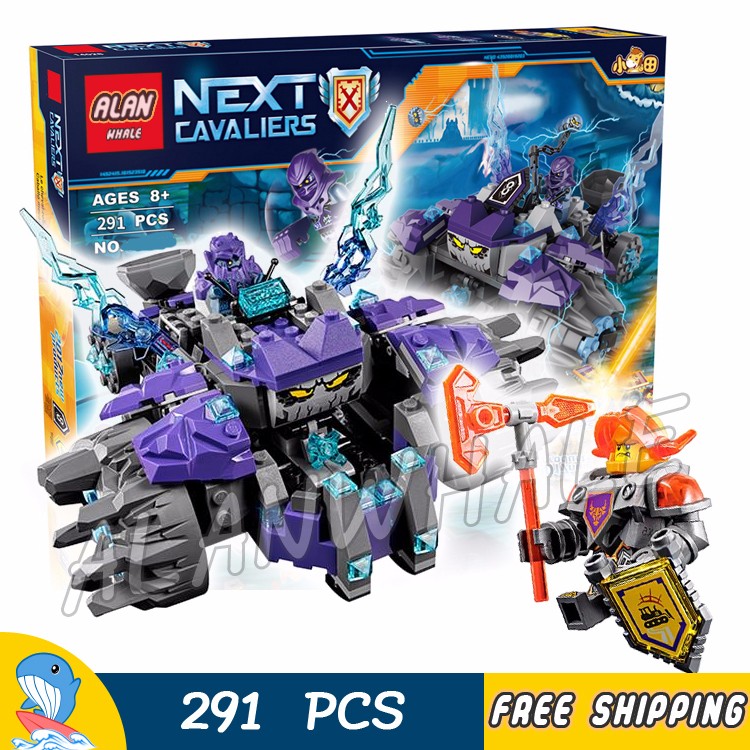 279pcs New Knights The Three Brothers Rolling Monster 10595 DIY Figure Building Blocks Sets Toys Nexus Compatible with LegoING