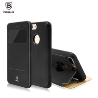 Baseus Simple Leather Phone Case For IPhone 7 Case For IPhone 7 Plus Case Cover Full