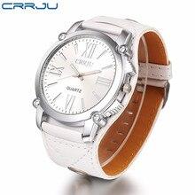 Top Marque CRRJU Quartz Montre De Luxe Hommes Bracelet En Cuir montre-bracelet Romaine Vintage Style Business Watch relogio masculino Horloge