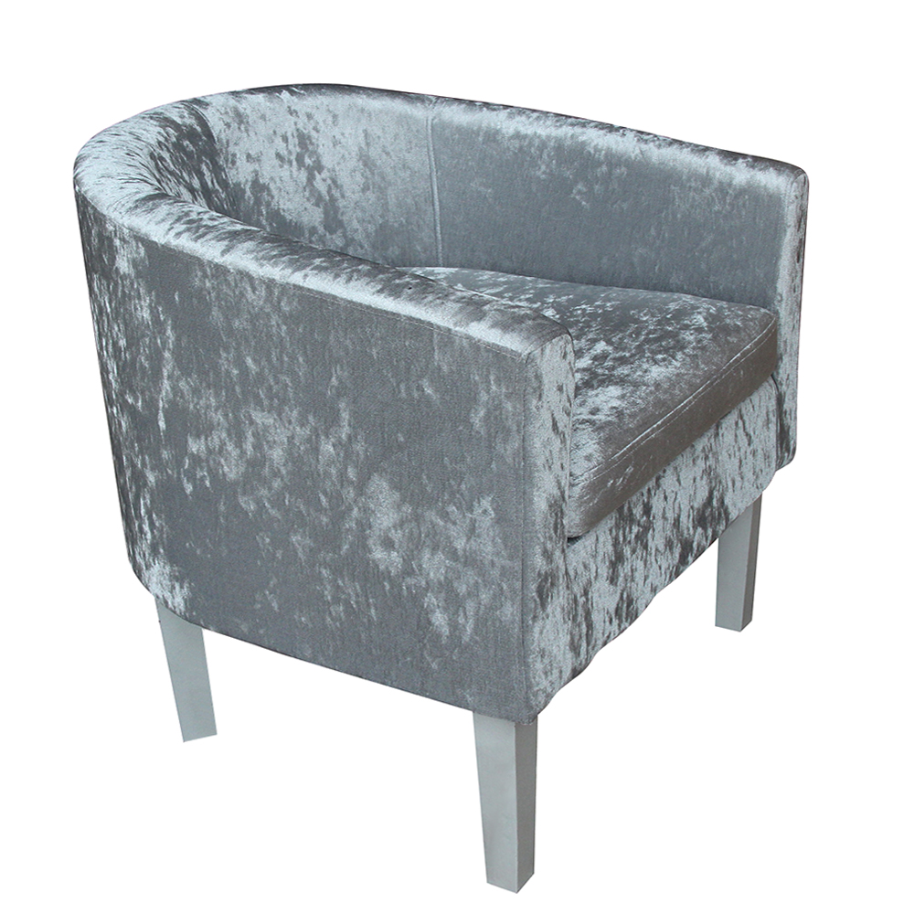 цена Premium Crushed Velvet Tub Chair Armchair Dining Living Room Office Dropshipping