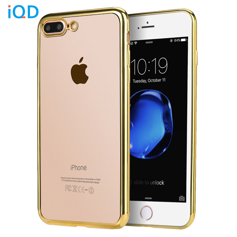 IQD For iPhone X 6 6s 7 8 Plus Case Slim Covers Scratch Resistant Silicon Back Panel TPU for Apple iPhone x 8 7 6s 6 Bumper Case